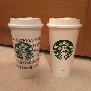 Christmas Starbucks To Go Cups Tumblers